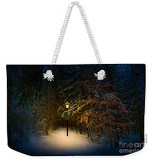 Weekender Tote Bag featuring the photograph Lantern In The Wood by Michael Arend