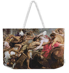 Lapiths And Centaurs Oil On Canvas Weekender Tote Bag by Peter Paul Rubens
