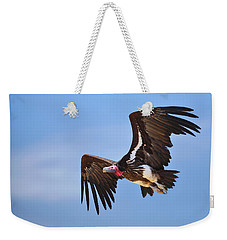 Lappetfaced Vulture Weekender Tote Bag by Johan Swanepoel