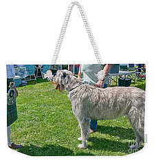 Large Irish Wolfhound Dog  Weekender Tote Bag by Valerie Garner