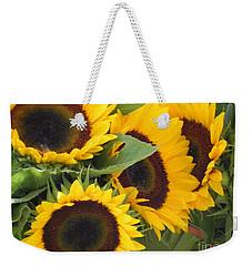 Large Sunflowers Weekender Tote Bag by Chrisann Ellis