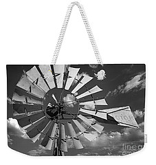 Large Windmill In Black And White Weekender Tote Bag