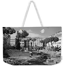 Weekender Tote Bag featuring the photograph Largo Di Torre - Roma by Dany Lison