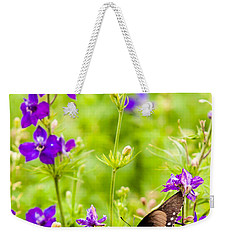 Larkspur Visitor Weekender Tote Bag by Melinda Ledsome