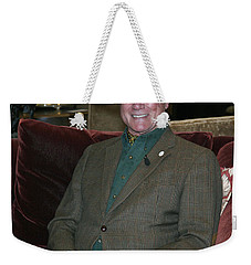 Larry Hagman Weekender Tote Bag by Nina Prommer