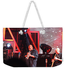 Weekender Tote Bag featuring the photograph Lashawn Ross And Jeff Coffen by Aaron Martens