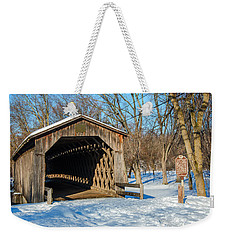 Last Covered Bridge Weekender Tote Bag by Susan  McMenamin