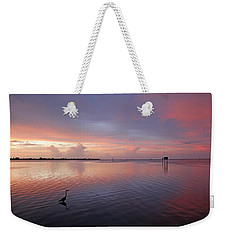 Weekender Tote Bag featuring the photograph Last Light by HH Photography of Florida