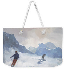 Last Run Les Arcs Weekender Tote Bag