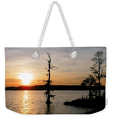 Weekender Tote Bag featuring the photograph Last Sunset Of 2012 by Victor Montgomery