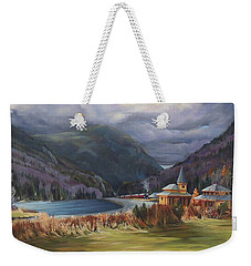 Last Train To Crawford Notch Depot Weekender Tote Bag by Nancy Griswold