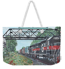 Last Train Under The Bridge Weekender Tote Bag