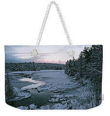 Weekender Tote Bag featuring the photograph Late Afternoon In Winter by David Porteus