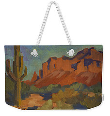 Late Afternoon Light At Superstition Mountain Weekender Tote Bag by Diane McClary