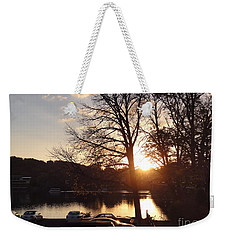 Late Fall At The Station Weekender Tote Bag