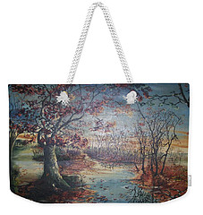 Weekender Tote Bag featuring the painting Late Fall by Peter Suhocke