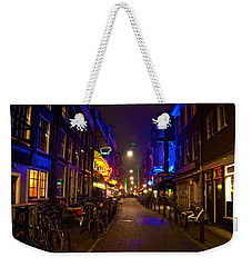 Weekender Tote Bag featuring the photograph Late Night Neon  by Jonah  Anderson
