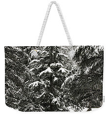 Late Season Snow At The Park Weekender Tote Bag by Gary Slawsky