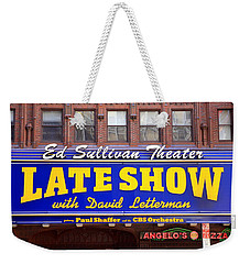 Late Show New York Weekender Tote Bag