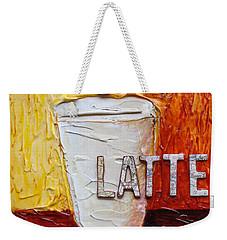 Latte Weekender Tote Bag