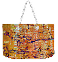 Lattice Animals Abstract Oil Painting By Regina Valluzzi Weekender Tote Bag by Regina Valluzzi