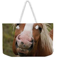Laughing Smiling Happy Horse Weekender Tote Bag by Stanza Widen