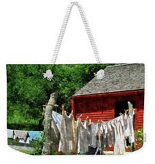 Laundry Hanging On Line Weekender Tote Bag