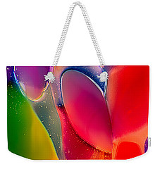 Weekender Tote Bag featuring the photograph Lava Lamp by Omaste Witkowski