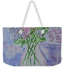 Lavendar  Flowers Weekender Tote Bag by Sonali Gangane