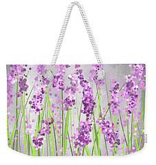 Lavender Blossoms - Lavender Field Painting Weekender Tote Bag