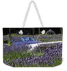 Weekender Tote Bag featuring the photograph Lavender Dreams by Cheryl Hoyle