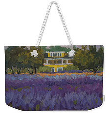 Lavender Farm On Vashon Island Weekender Tote Bag by Diane McClary