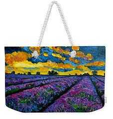 Lavender Fields At Dusk Weekender Tote Bag