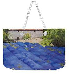 Lavender Fields Weekender Tote Bag