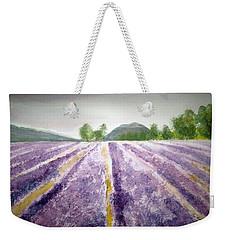 Lavender Fields Tasmania Weekender Tote Bag