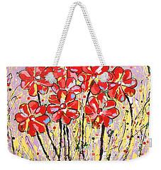 Lavender Flower Garden Weekender Tote Bag