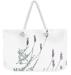 Lavender Grows From Stone Wall  Weekender Tote Bag