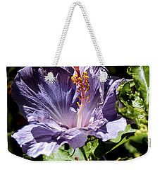 Lavender Hibiscus Weekender Tote Bag by Patricia Griffin Brett