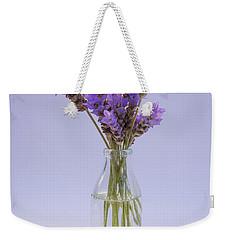 Lavender In Glass Vase Weekender Tote Bag by Jocelyn Friis
