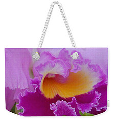 Lavender Orchid Weekender Tote Bag by Aimee L Maher Photography and Art Visit ALMGallerydotcom