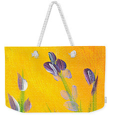Weekender Tote Bag featuring the photograph Lavender - Hanging Position 2 by Val Miller