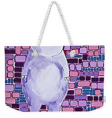 Lavender Piglet Weekender Tote Bag
