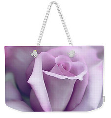 Lavender Rose Flower Portrait Weekender Tote Bag