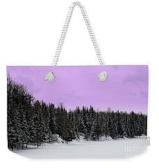 Weekender Tote Bag featuring the photograph Lavender Skies by Bianca Nadeau