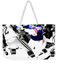 Lawrence Taylor Out Of My Way Weekender Tote Bag by Brian Reaves