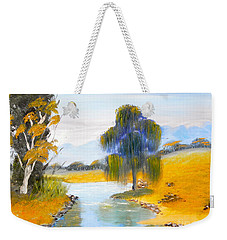 Weekender Tote Bag featuring the painting Lawson River by Pamela  Meredith