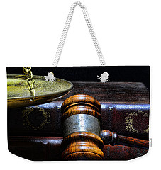 Lawyer - Books Of Justice Weekender Tote Bag by Paul Ward
