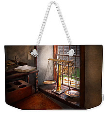 Lawyer - Scales Of Justice Weekender Tote Bag by Mike Savad
