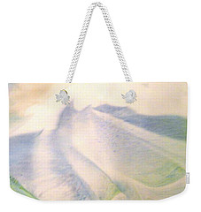 Weekender Tote Bag featuring the painting Lay Of The Land by Mike Breau