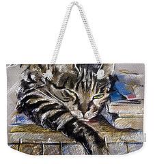 Lazy Cat Portrait - Drawing Weekender Tote Bag